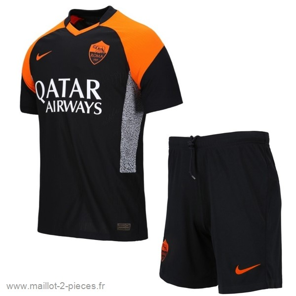 Boutique De Foot Third Conjunto De Enfant AS Roma 2020 2021 Noir