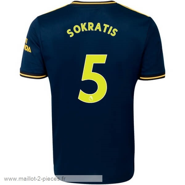 Boutique De Foot NO.5 Sokratis Third Maillot Arsenal 2019 2020 Bleu