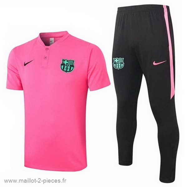 Boutique De Foot Ensemble Complet Polo Barcelona 2020 2021 Rose Noir