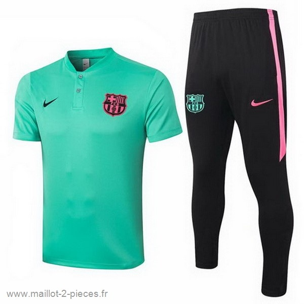 Boutique De Foot Ensemble Complet Polo Barcelona 2020 2021 Vert Noir