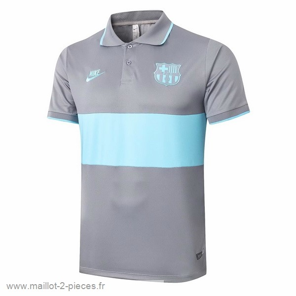 Boutique De Foot Polo Barcelona 2020 2021 Gris Bleu