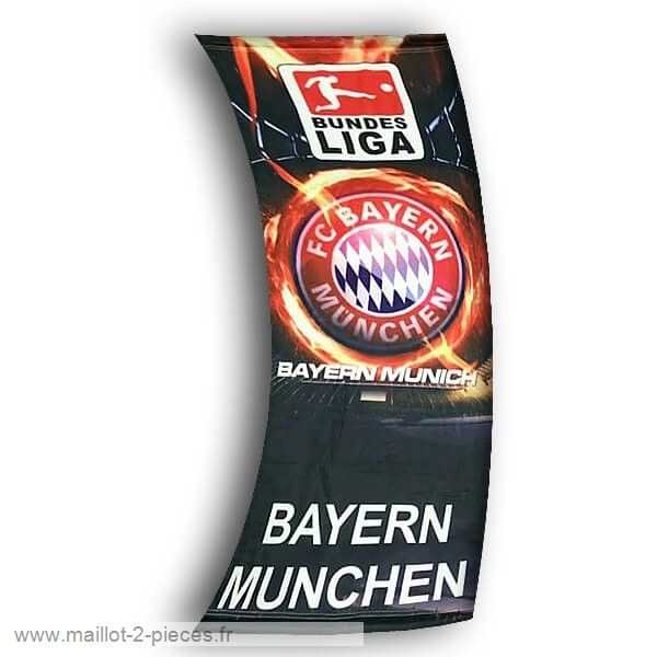 Boutique De Foot Football Drapeau de Bayern Munich Noir