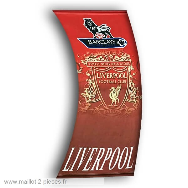 Boutique De Foot Football Drapeau de Liverpool Rouge