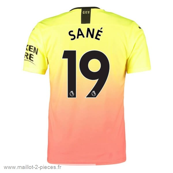 Boutique De Foot NO.19 Sane Third Maillot Manchester City 2019 2020 Orange
