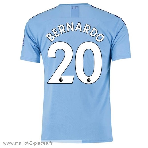 Boutique De Foot NO.20 Bernardo Domicile Maillot Manchester City 2019 2020 Bleu