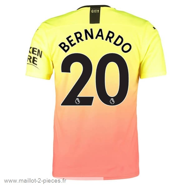 Boutique De Foot NO.20 Bernardo Third Maillot Manchester City 2019 2020 Orange