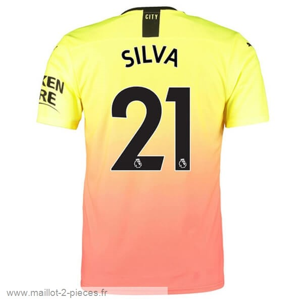 Boutique De Foot NO.21 Silva Third Maillot Manchester City 2019 2020 Orange