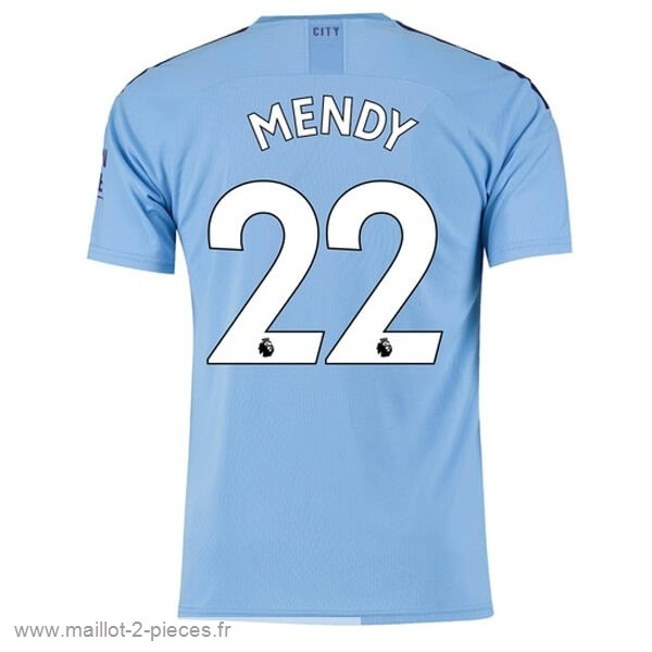 Boutique De Foot NO.22 Mendy Domicile Maillot Manchester City 2019 2020 Bleu